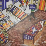 Леманова Арина, 13 лет, «Праздник для детей в больнице», маркеры, г. Стерлитамак, ДХШ № 1.