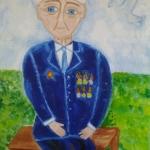 Алексеева Катя , 11 лет, Моя прабабушка, гуашь, пр.Гребнева О.И.