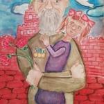 Арсланбекова Елена, 10 лет, На Красной площади 9 мая, гуашь, пр.Гребнева О.И.