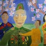 Азнагулова Екатерина, 10 лет, Весна празднует День Победы, гуашь, пр.Гребнева О.И.
