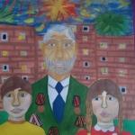 Бабич Ксения, 12 лет, ''Мы гордимся своим прадедом!'',  гуашь, преп. Чистякова М.А.