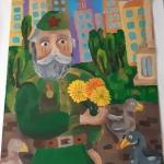 Даминова Адель, 10 лет, Ветеран, гуашь, пр.Сергеева Н.Г.