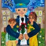 Маслова Софья, 11 лет, ''Я за вас воевал!'', гуашь, преп. Чистякова М.А.