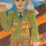 Милова Настя, 10 лет, масляная пастель, пр. Герасимов С.Н.