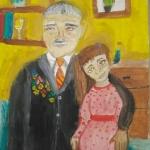 Петрова Маргарита, 10 лет, ''С любимой правнучкой!'', гуашь, преп. Чистякова М.А.