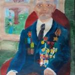 Усманова Вилена, 10 лет, Портрет ветерана, гуашь, пр. Герасимов С.Н.