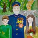 Юсупова Ангелина, 10 лет, У вечного огня, гуашь, пр.Гребнева О.И.