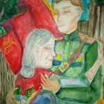 Ананьева Таисия, 12 лет, Возвращение с победой, акв., пр.Лебедянцева Г.Ф.