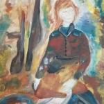 Ариткулова Милена, 14 лет,  После боя, гуашь, пр. Мухамедьярова Г.Т.
