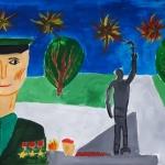 Егоров Иван, 12 лет У памятника, гуашь, пр.Мухамедьярова Г.Т.