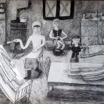 Ильина Владислава, 12 лет, Дети помогают в годы войны в госпитале, гел.ручка, пр. Литвиненко О.В.