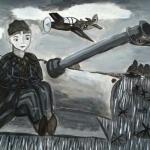 Кузнецова Алиса, 11 лет, Мальчик на лафете, гуашь, пр. Вилянова А.Ю.