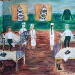 Панфилова Варвара, 12 лет, Госпиталь в годы войны, гуашь, пр.Литвиненко О.В.