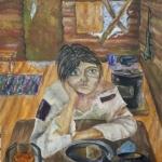 Зорина Елизавета, 12 лет, Голодная военная зима 1941-1942 гг, гуашь, пр.Литвиненко О.В.