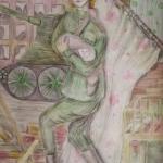 Бакеева Милена, 12 лет, Спасение ребенка, цв.карандаши, пр. Шмидт Е.А
