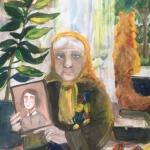 Хакимова Анна, 12 лет, Моя прабабушка-ветеран, гуашь, пр.Мухаметдинова В.Н.