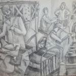 Невская Анна,  12 лет, Госпиталь, гел. ручка, пр. Шмидт Е.А