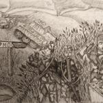Никонова Полина, 12 лет,  Великая Отечественная Война, черн.ручка, пр.Зайнутдинова Р.Р.