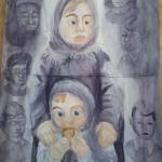 Пахомова Ангелина, 12 лет, Последний кусочек хлеба, акв., пр.Мухаметдинова В.Н.