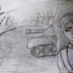 Васильева Полина, 12 лет, В засаде, карандаш, пр.Мухаметдинова В.Н.