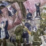 Великий Глеб, 13 лет, Диверсия Красной армии.Подрыв нациского поезда, акв., пр.Литвиненко О.В.