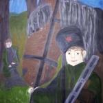 Чистякова Варвара, 14 лет, Юный партизан, защитник Родины в годы войны, гуашь, пр.Литвиненко О.В.