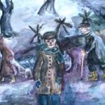 Титова Анна, 13 лет,  Жители Блокадного города, акв., пр.Литвиненко О.В.