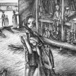 Волкова Софья 14 лет, Дети в нацистском концлагере, гел.ручка, пр.Литвиненко О.В.