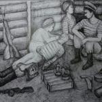 Абрамова Ксения, 15 лет, Защитники Севастополя, гел.ручка, пр.Нагаев Р.Р.