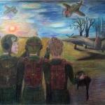 Ишмеева Сабина, 15 лет, Три товарища, цв.карандаши, пр.Фролова Ю.Ю.