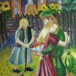Кадырова Динара, 14 лет, Вернулся с войны, гуашь, пр.Нагаев Р.Р.