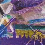 Низамова Элина, 14 лет, Блокадное небо Ленинграда, масл. пастель, пр.Махмутов С.М.