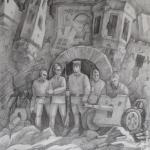 Шарифуллин Эмиль, 16 лет, Защитники Брестской крепости, карандаш, преподаватель Махмутов С.М.