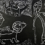 Гаврилова София , 7 лет, «Урал Батыр», 2018 г., бум., граттаж, 42х60, Россия, Башкортостан, г. Стерлитамак, ДХШ № 1, пед.Сергеева Н.Г. jpg