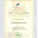 Благодарность Поворотов Илья