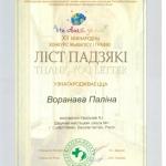 Благодарность Воронова Полина