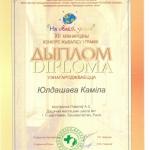 Диплом Юлдашева Камила